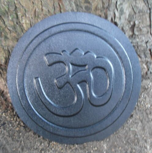 """Oriental om stepping stone mold concrete plaster 12/"""" x 1.5/"""" thick"""