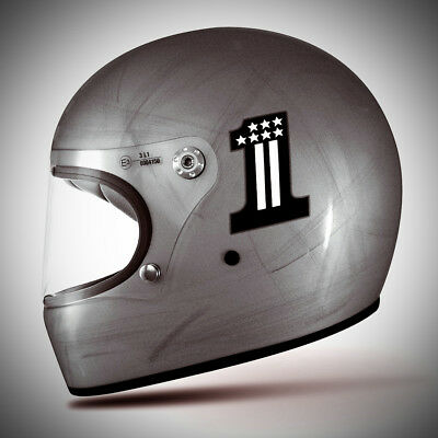 Premier Trophy CK One Old Style Silver Integralhelm Retro Vintage Cafe Racer