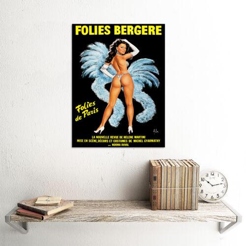 STAGE REVUE FOLIES BERGERE PARIS SHOWGIRL DANCE FRANCE ART PRINT POSTER BB7653