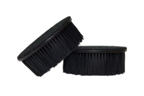 """2X Upholstery 5/"""" Rounded Brush Hook-N-Loop Back Attachment 2/"""" Bristles FREE SHIP"""
