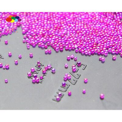 Black 100000 pcs Glass small Beads No Hole 0.6mm-0.8mm Nail Art Caviar