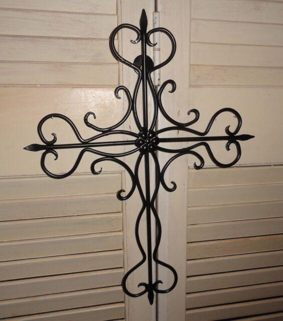 Wall Cross, Cast Iron, wall decor, home and garden, garden decor, Cross, Metal
