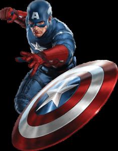 Captain America vinyl sticker for skateboard luggage laptop tumblers c