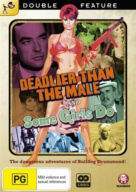 Deadlier Than The Male / Some Girls Do (DVD, 2010, 2-Disc Set) NEW AND SEALED