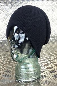 Genuine-US-Army-Black-Beanie-Hat-Watch-Cap-100-Wool-NEW
