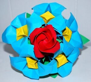 Origami rose bouquet paper flowers valentine anniversary birthday image is loading origami rose bouquet paper flowers valentine anniversary birthday mightylinksfo