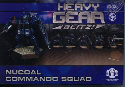 Heavy Gear Blitz NuCoal Command Squad MINT