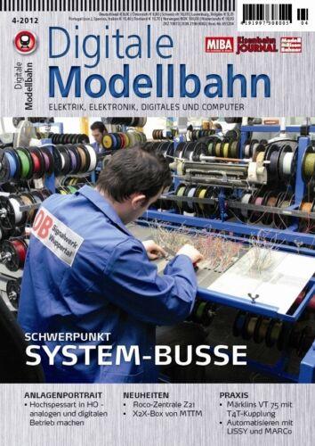 MIBA Eisenbahn Journal Digitale Modellbahn 9 System-Busse 4-2012