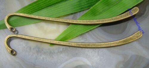 10PCS NEW Bronze Tone Bookmark With Loop Design SH642