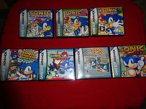 Empty Cases Sonic The Hedgehog Genesis Collection Nintendo Game Boy Advance Gba Ebay