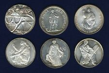 SWITZERLAND 1946-1966  SHOOTING MEDALS, MISC. SILVER MEDALS LOT OF (6)