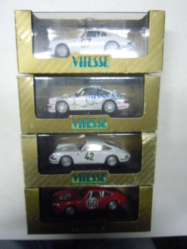 4 RARE porsche 911 modèles de vitesse LIMITED EDITION dans 1 43 neuf dans sa boîte