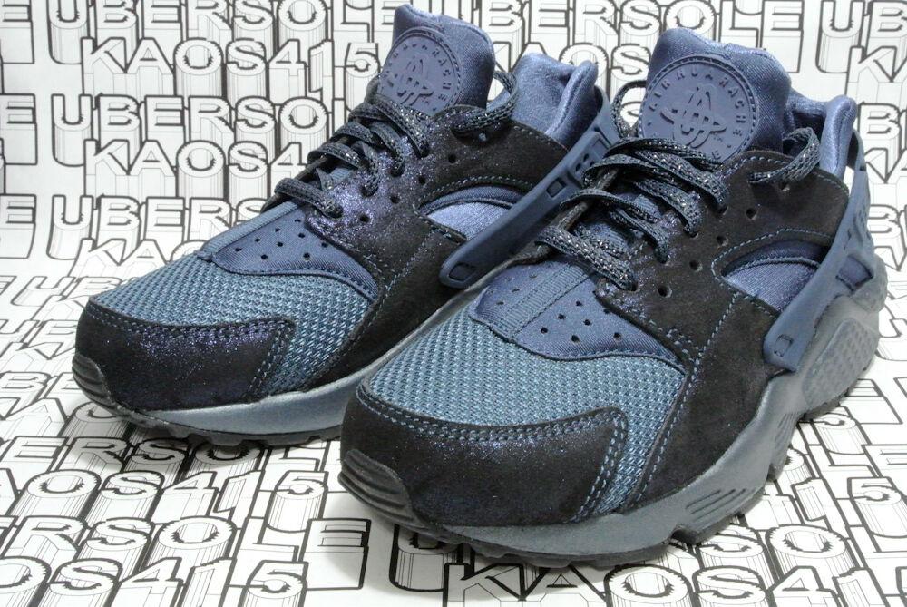 CUTE NEW Nike Huarache qs Metallic Blue GLITTERY Premium qs Huarache 683818 900 Women 6 c7d8ed