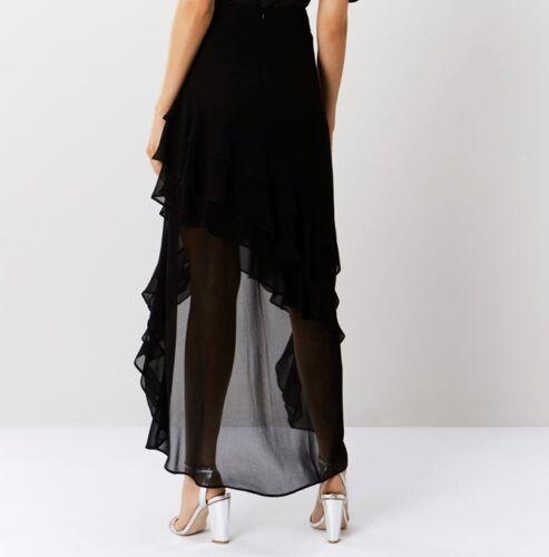 Coast  Black Ruffle Deep Back Hem Skirt  Blogger FAV  Size 6 to 16 RETAIL £ 99