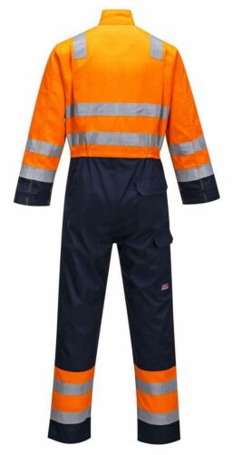 Modaflame RIS Hi-Vis Safety Workwear Coverall Boilersuit Portwest