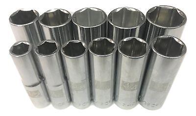 "Craftsman 1//2/"" SAE Deep Dual Laser Etched 6pt Socket Any Size Standard New"