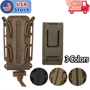 Tactical-Scorpion-Soft-Shell-9mm-Pistol-Magazine-Pouch-Carrier-Tall-w-Belt-Loop