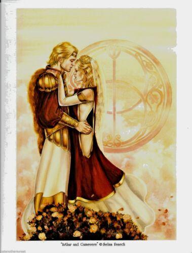 "Selina Fenech Print 8.5x11/"" King Arthur Guinevere Blond Wedding Marriage Couple"