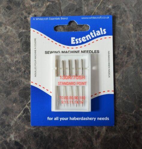 Pack surtido de agujas de máquina con punto estándar 130R//705H