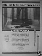 PUBLICITÉ 1927 WAHL EVERSHARP LA PLUME A RÉSERVOIR - ADVERTISING