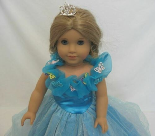 "DOLL CLOTHES FITS  AMERICAN GIRL DOLL  AND MOST 18/"" DOLLS CINDERELLA DRESS"