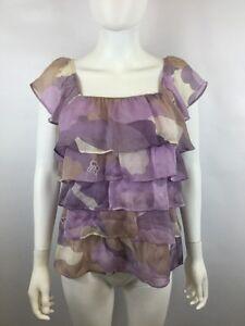 Ya-Da-Womens-Purple-Silk-Blouse-Size-S-Retail-68-00-CAC