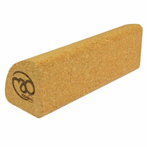 Fitness Mad Cork Quarter Block Yoga Balance /& Pilates Strength 230 x 80 x 80mm