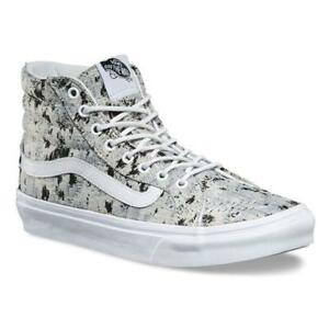 b121a5ad42 Vans Sk8 Hi Slim (Italian Weave) Abstract True White Womens Size 5.5 ...
