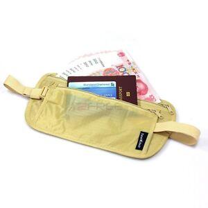 New-Slim-Travel-Pouch-Hidden-Compact-Security-Money-Passport-ID-Waist-Holder-Bag