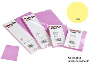 Tonkarton Karton 240g Din A4 Gelb 3963063 Ebay