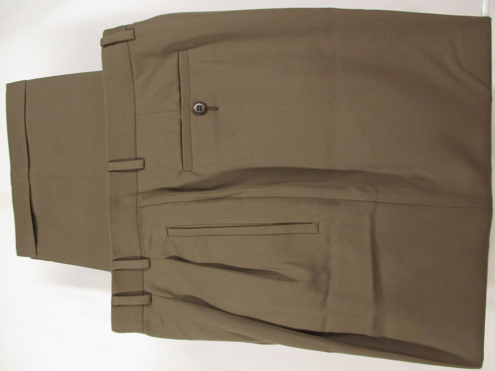 Zanella Andrew Mens Tan Pleated Dress Pants Size 36 34x28.5