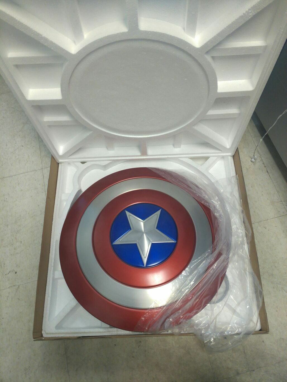 Captain America Shield 1:1 Full Aluminum Metal Shield Cosplay Unpainted/Painted 4