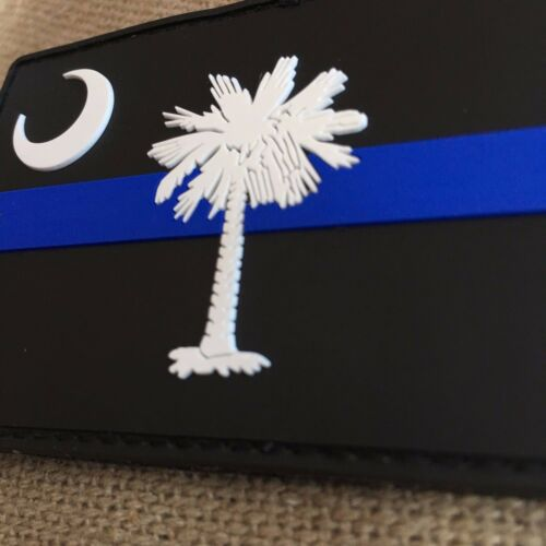 Subdued South Carolina State Flag Thin Blue Line PVC Patch