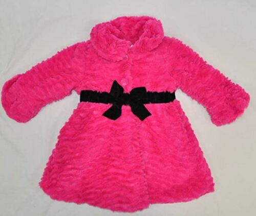 NEW American Widgeon Girls Pink Faux Fur Jacket Dress Coat