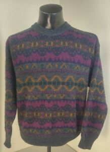 045cce95c3a Details about Mens Vintage Italian Sweater Co Cardigan Wool Blend Dad  Cosby, Size: Large