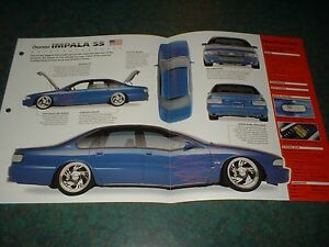 1996 chevy impala ss custom original imp brochure 96 95 94 specs info 1994 ebay. Black Bedroom Furniture Sets. Home Design Ideas