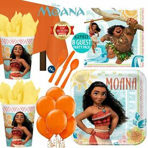 Moana-Birthday-Party-Supplies-Plates-Cups-Napkins-Cutlery-T-Cover-FREE-Balloons