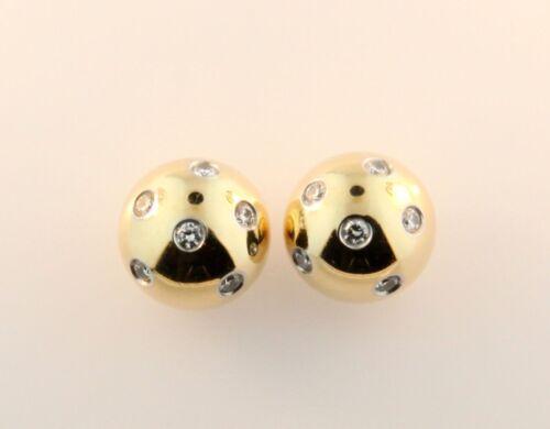Tiffany & Co. Etoile Bead Ball Diamond Earrings Gold+Platinum by Tiffany & Co.