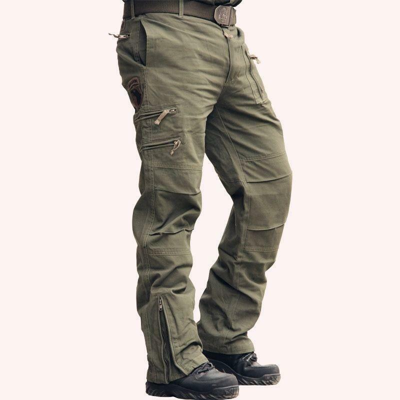 MenS Spring Stright Leg Jeans Cotton Breathable Cargo Loose Military Pants 2019