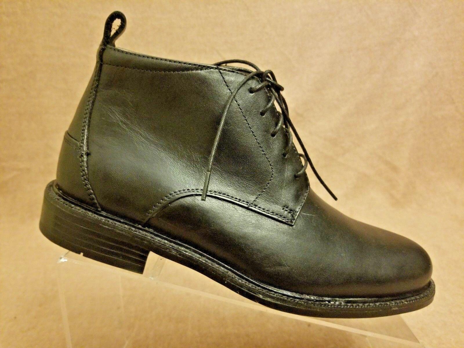 Florsheim Limited Waterproof Men shoes Black Leather Lace Up Ankle Boots Sz 7 D