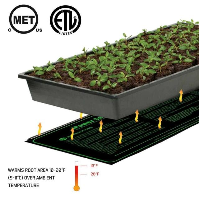 Ohuhu Waterproof Seedling Plant Heat Mat Large Warm Hydroponic Heating Pad For X