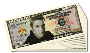 25 Factory Fresh Elvis Presley Million Dollar Bills