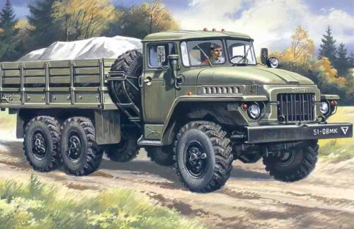Neu ICM 72711-1:72 URAL-375 D Militär LkW