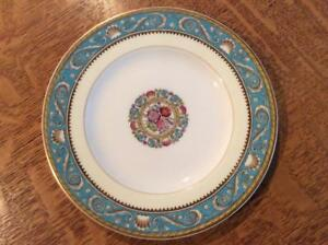 Wedgwood-Turquoise-Runnymede-bone-china-6-034-bread-plate-green-mark-W3808