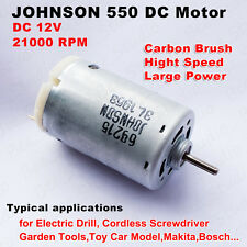 DC 12V High Speed Large Power Carbon Brush JOHNSON 550 Motor for Electric Tools