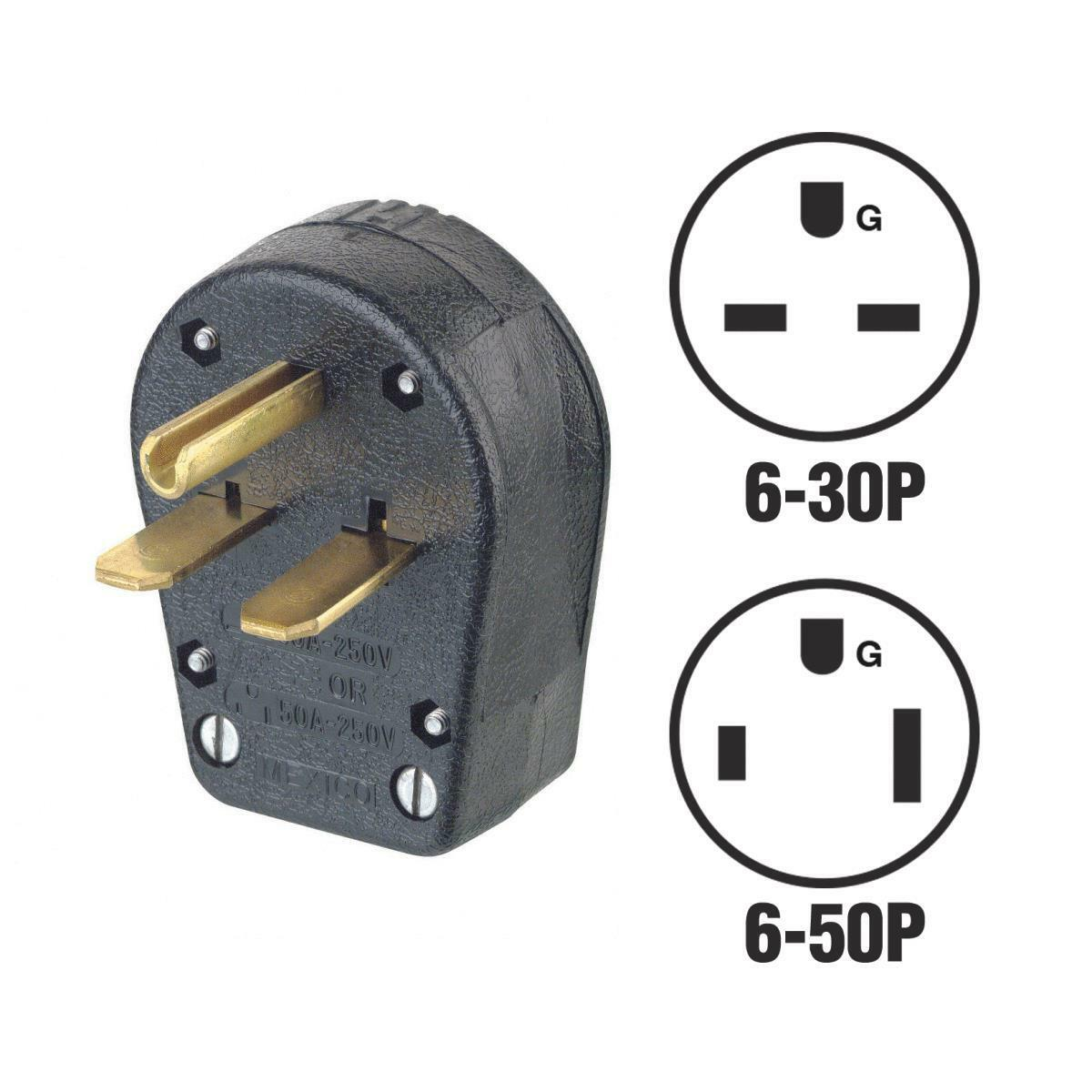 Leviton Dual Electric Plug 30a 50a 250v R50 931 3 Wire Has Some Extension Cord Replacement Electrical Plugs 15amp 125v Prong Ebay Norton Secured Powered By Verisign