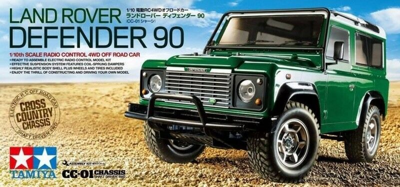 Tamiya 58657 Land Rover Defender 90 CC01 4WD RC Kit WITH Tamiya ESC Unit
