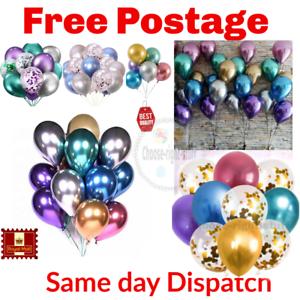 10-20-chrome-Ballons-Metallique-Latex-Pearl-12-034-Helium-Ballon-Fete-D-039-Anniversaire-UK