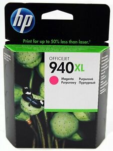 Genuine-Officejet-HP-940XL-Magenta-Ink-C4908A-exp-date-10-2020-free-postage