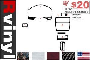Aluminum Rvinyl Rdash Dash Kit Decal Trim for Lexus LS 1995-1997 Brushed Black